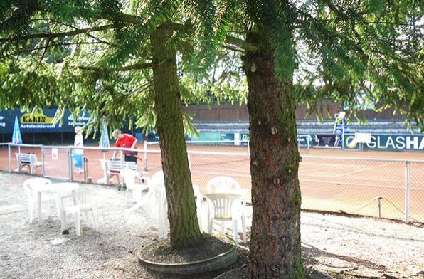 Открытые корты находятся в курортной зоне Мюнхена
