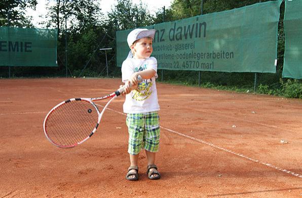 Никогда не рано начать играть в большой теннис